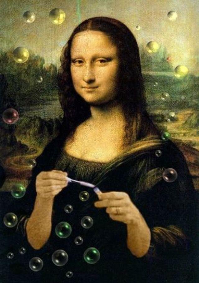 Mona Bubbles Mona Lisa Mona Lisa Parody Mona