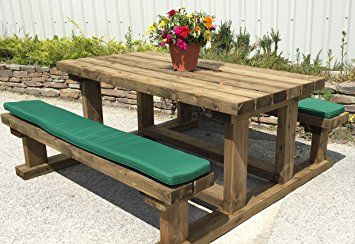 Picnic Bench Cushion Various Sizes And Colours Available 150cm Picnic Table Bench Picnic Table Picnic Bench