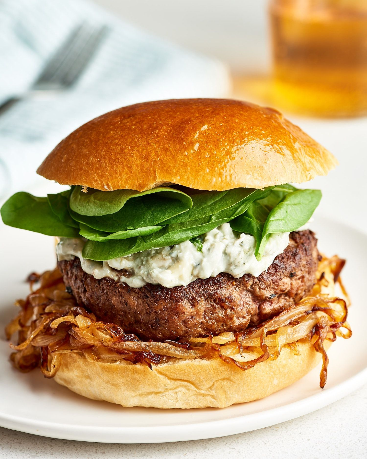 Spinach and Blue Cheese Burger Recipe Blue cheese