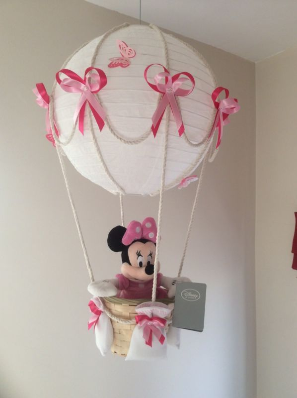 Hot Air Balloon Lamp Light Shade With Official Disney Minnie Mouse