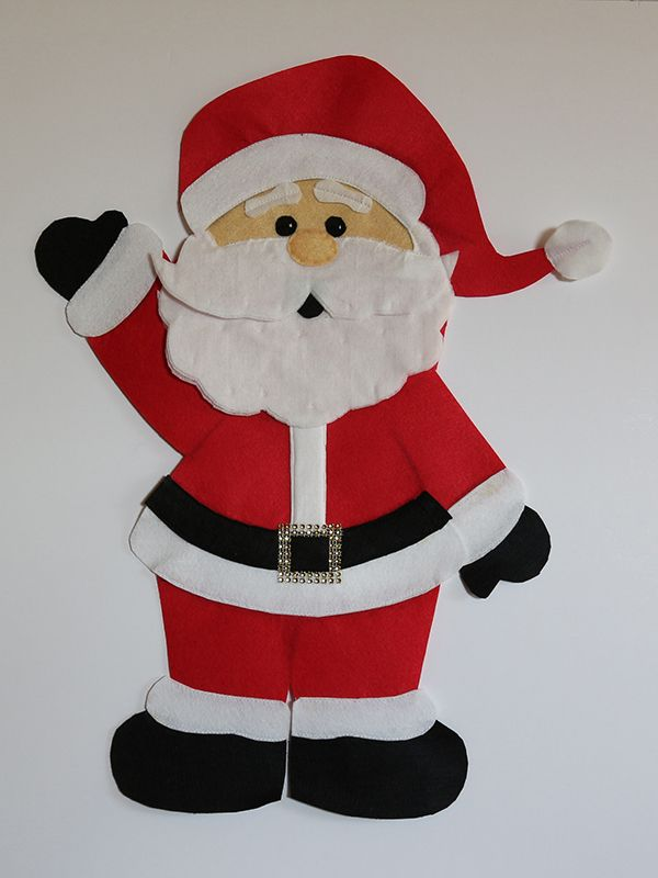 Papa Noel Santa Claus Fieltro Fieltro Y Ganchillo
