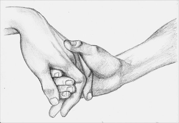 Holding Hands Love Art