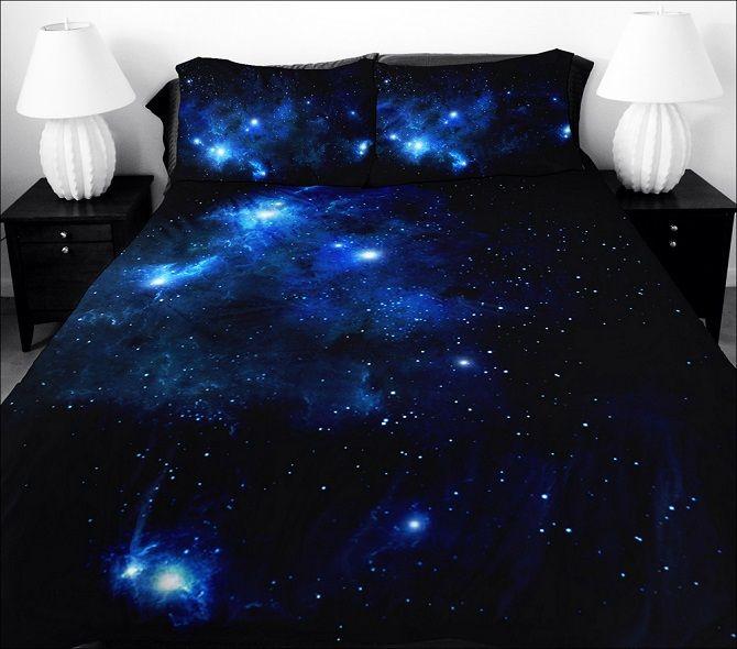Sleep Among The Stars With Galaxy Bedding Sets Elegant Bedroom