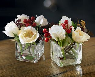 Small Christmas Rose Cubes Buy 2 And Save 5 Christmas Flower Arrangements Christmas Flowers Christmas Floral