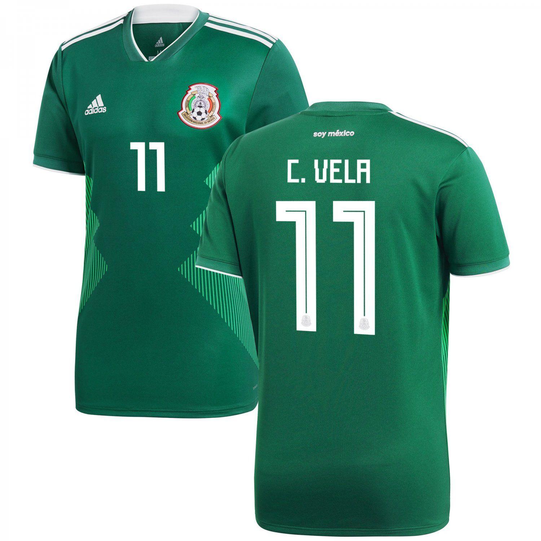 Carlos+Vela+11+Mexico+National+Team+2018/2019+Home+Jersey