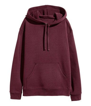 Hooded Top Plum Women H M Us Moda De Ropa Pantalones De Moda Ropa Juvenil De Moda