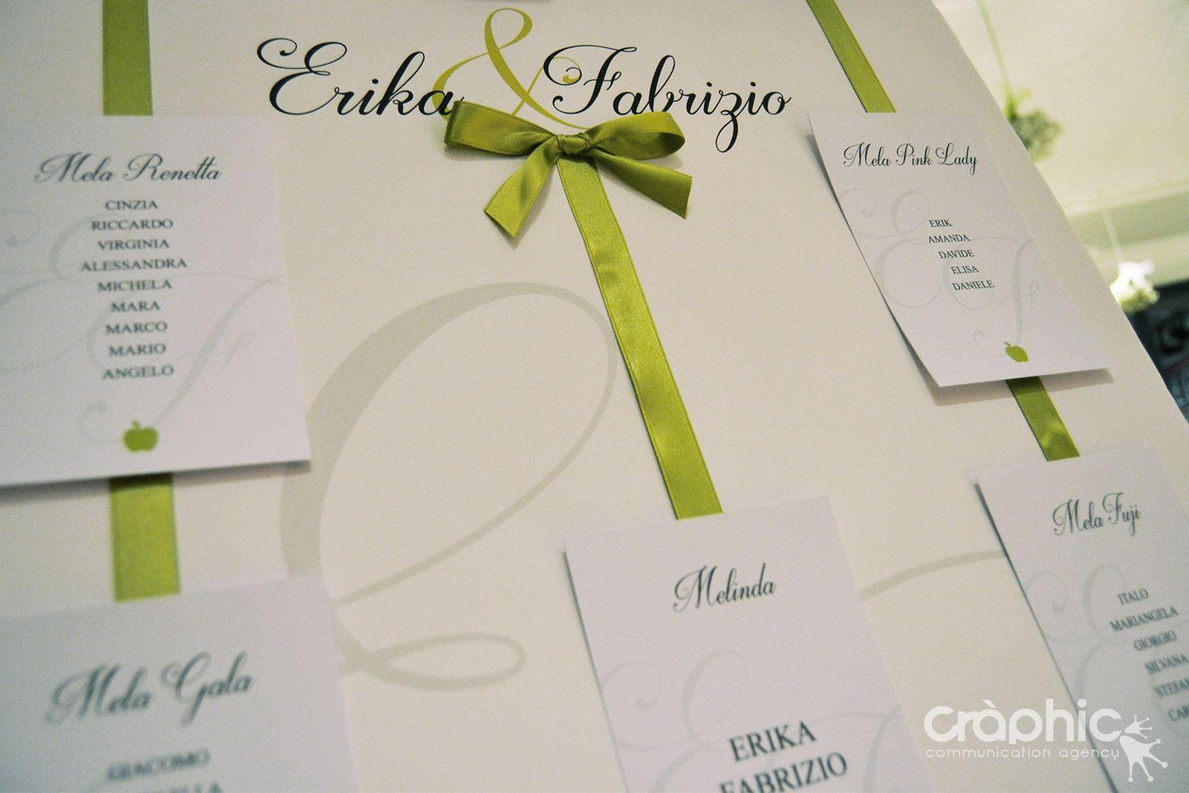 Segnaposto Matrimonio Verde Mela.Tableau Mariage Elegante Tema Verde Mela Tableau Matrimonio