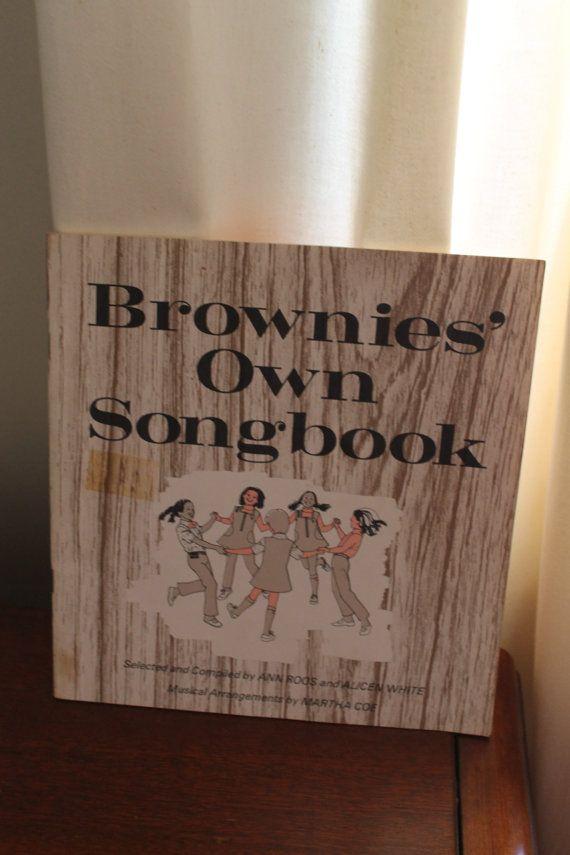 Vintage Brownie Girl Scout Songbook circa 1968 by AVerySweetShop
