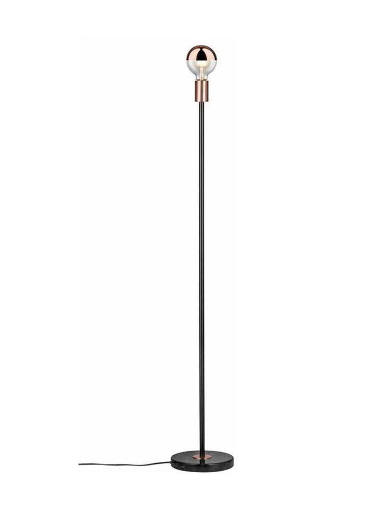 Skandinavische Stehlampe SMYCKE schwarz-kupfer einfach und schnell