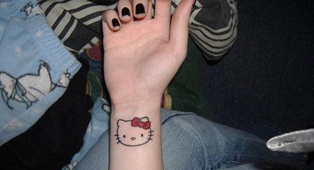 15 Cute Lovely Hello Kitty Tattoo Designs Hello Kitty Tattoos Bow Tattoo Designs Hello Kitty Bow