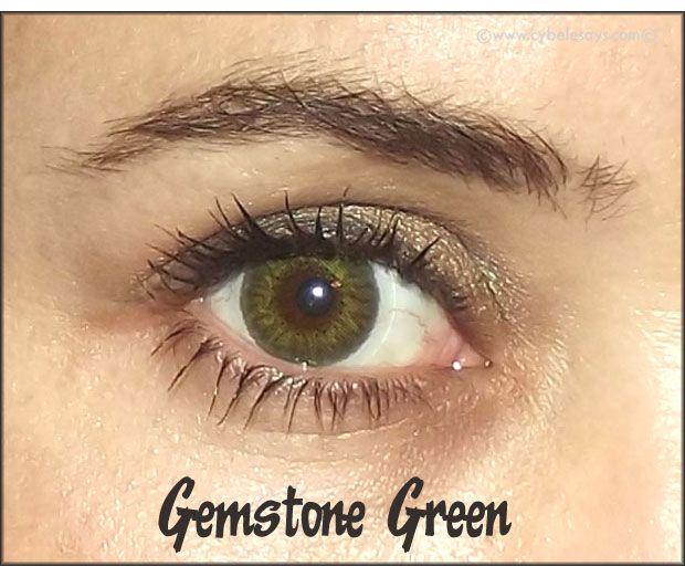Brown Eyed People Wearing Air Optix Gemstone Green