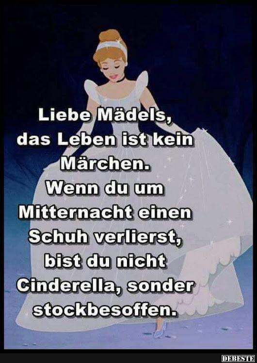 Liebe Mädels, das Leben ist kein Märchen.. | Lustige ...