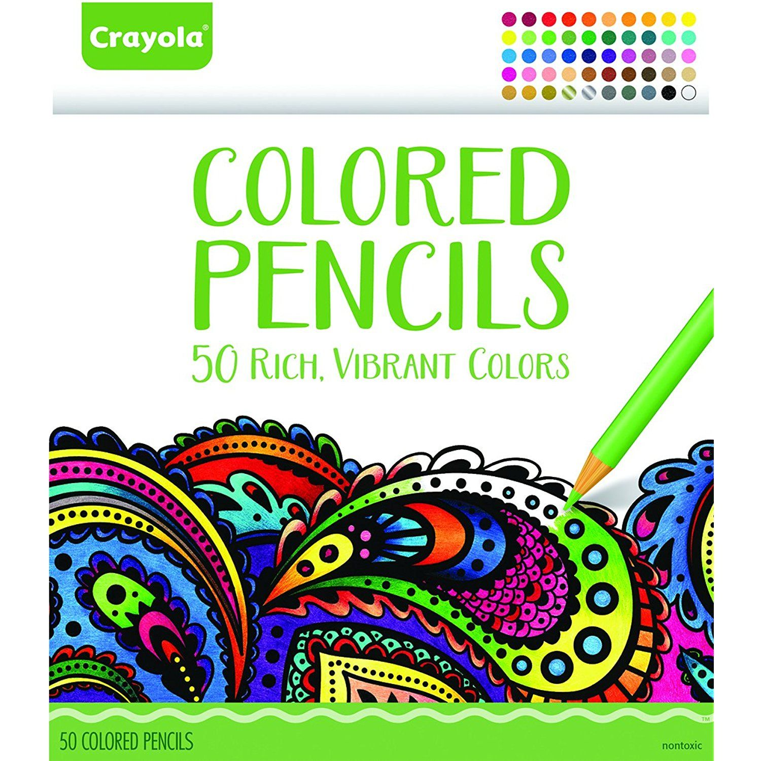 Crayola Colored Pencils, 50 Count Set, Pre-sharpened,Drawing ...