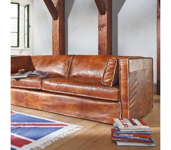sofa leder braun pflanzlich gegerbt bei m max g nstig. Black Bedroom Furniture Sets. Home Design Ideas