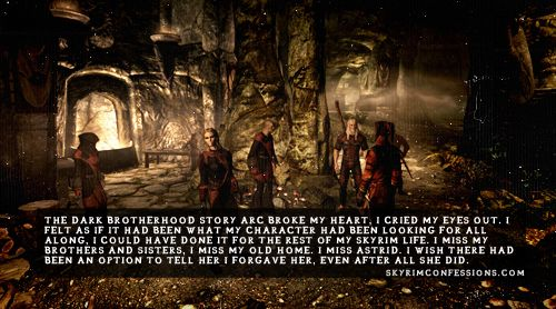 Skyrim confessions shut up, i'm not crying though seriously