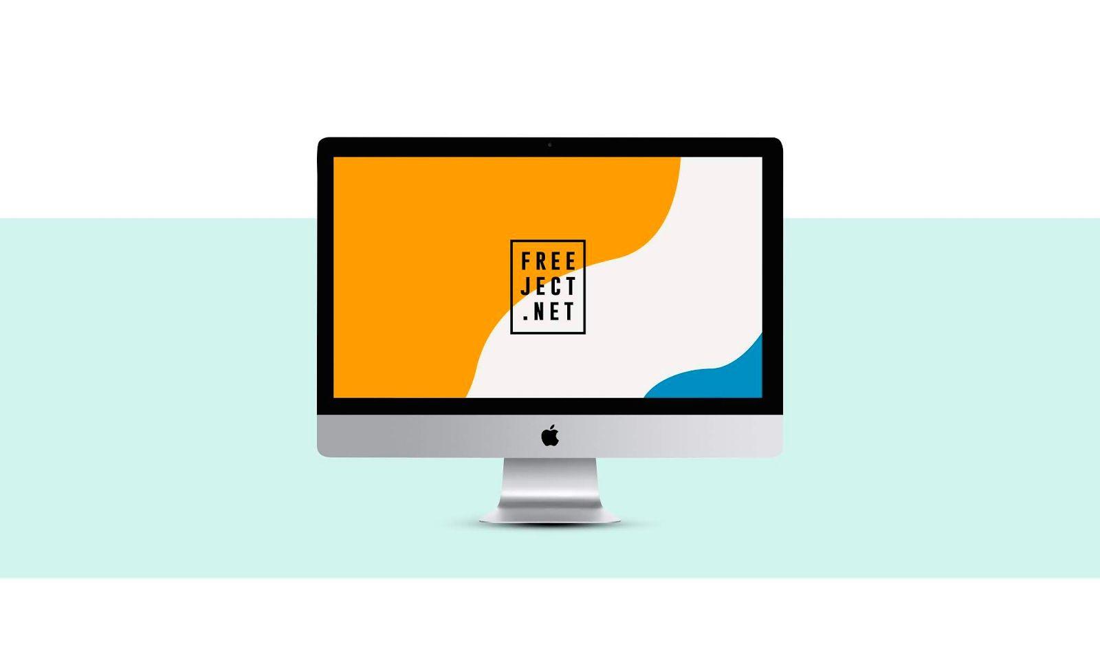 Freeject Net Free Download Imac Mockup Template Psd File Mockup Template Imac Mockup