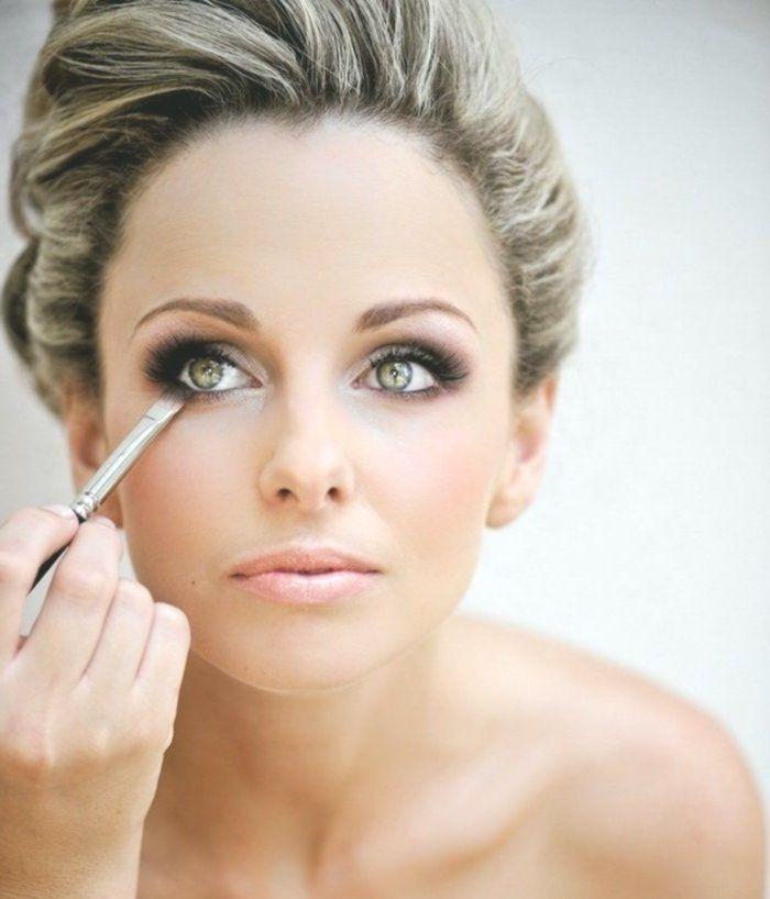 Augen Make-up Anweisungen, grüne Augen, rauchige Augen