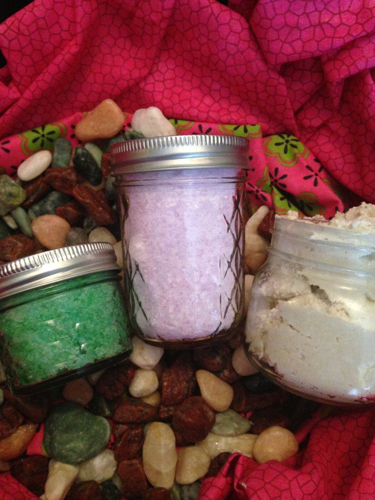 Gift Bundle Pack - Foot/Bath Soak, Body Scrub, AND Body Mousse - Hand Crafted, Custom made-to-order!