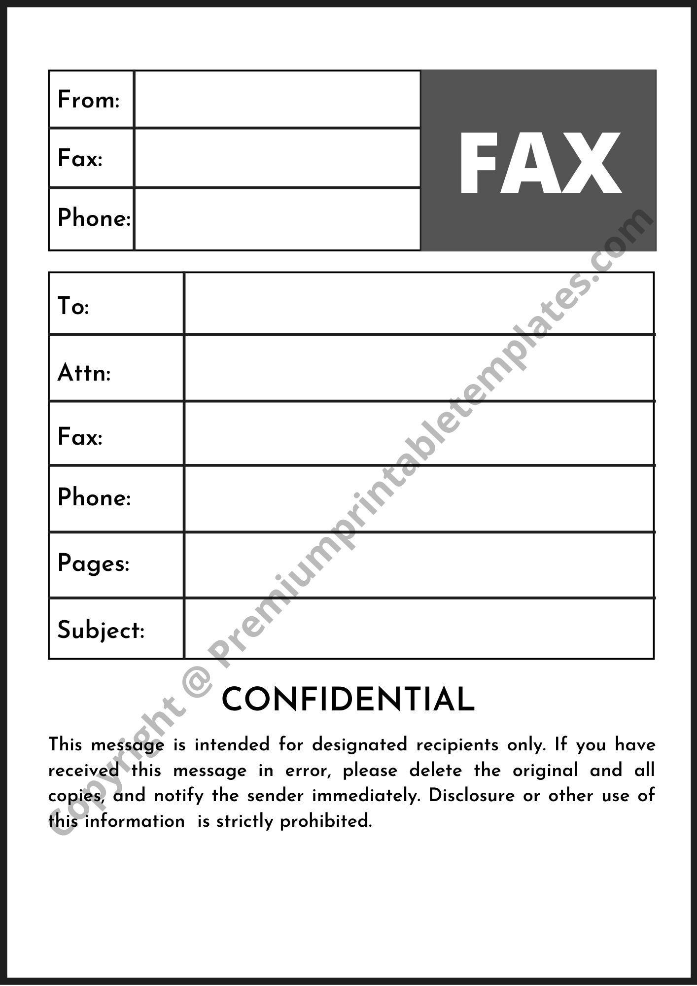 Editable Paramount Confidential Fax Template Premium Printable Templates Cover Sheet Template Template Printable Templates Confidential fax cover sheet pdf