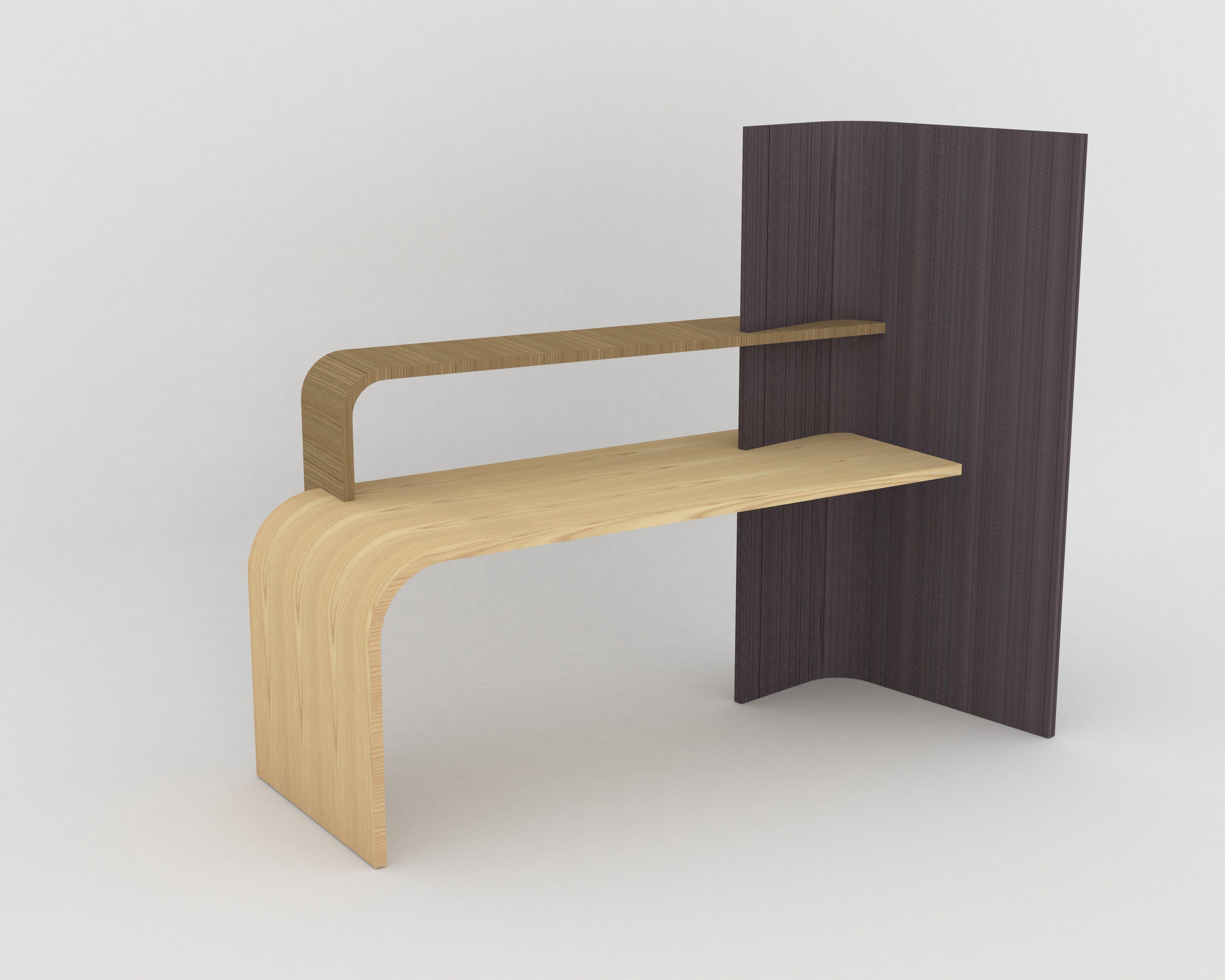 Bureau marsupio par lébénisterie arca © dr #bois #wood #woodworking
