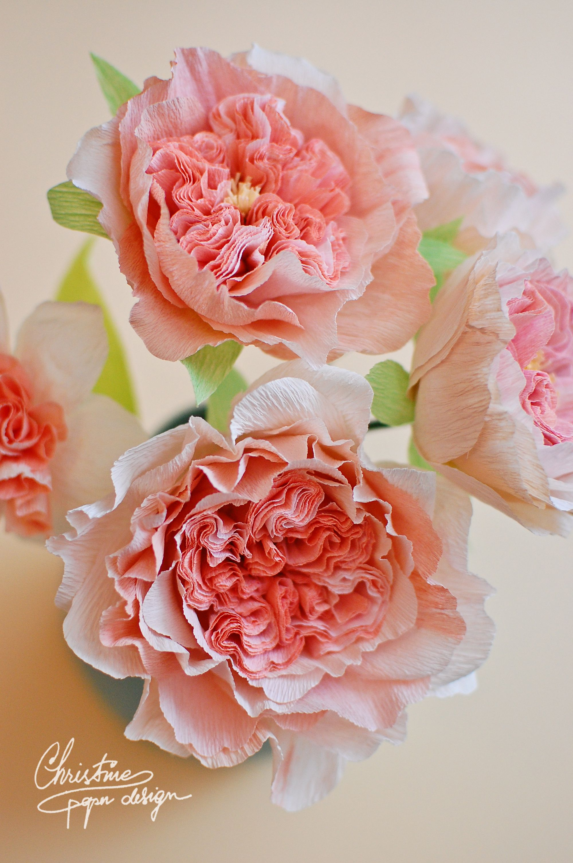 Juliet Garden Roses Made From Paper Paper Coral Flowers Paper