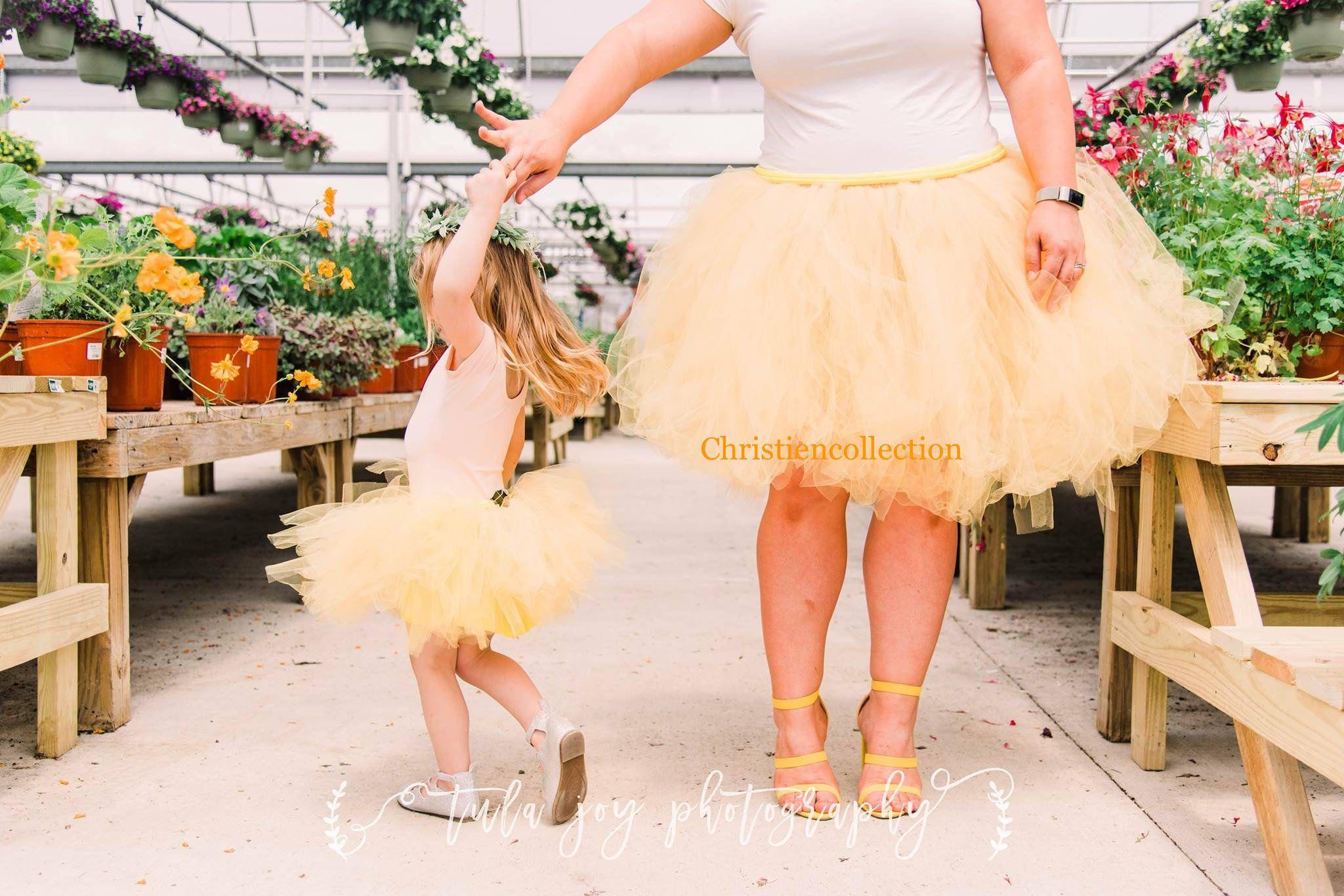 Photo of Mother and Daughter tutu set, Tutu set, Mother and Daughter Matching set, Plus size Tutu, Customizing Tutu, Photo shoot tutu set, Sewn Tutu