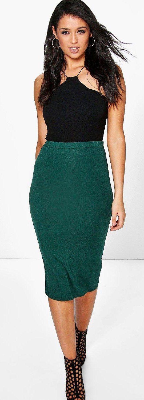 5f970fef8e6 Lexi Midi Jersey Tube Skirt - Skirts - Street Style