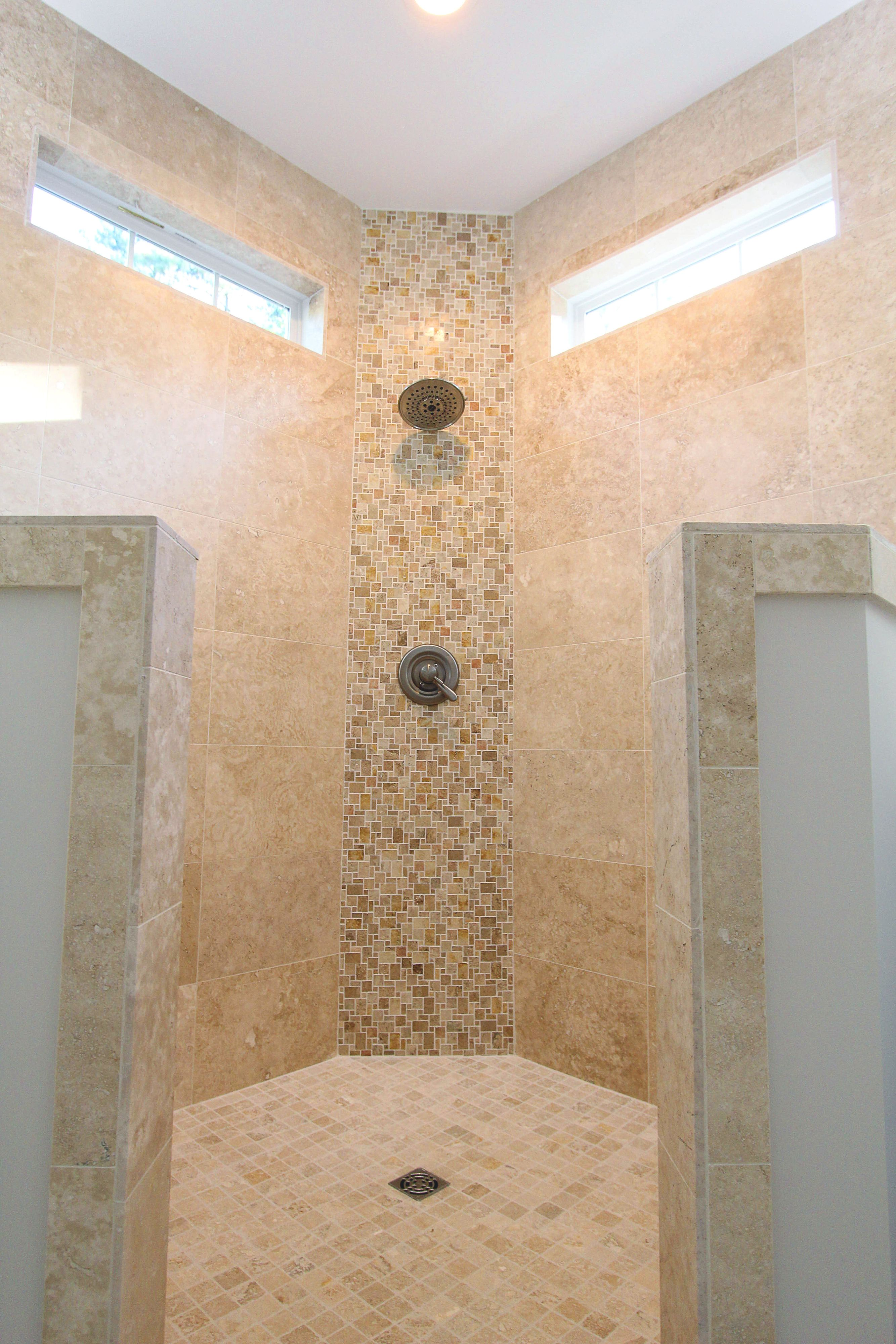 Beautiful Walk In Corner Shower With Lots Of Light We Love The