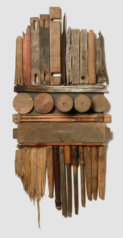 Assemblage art by Larry Simons