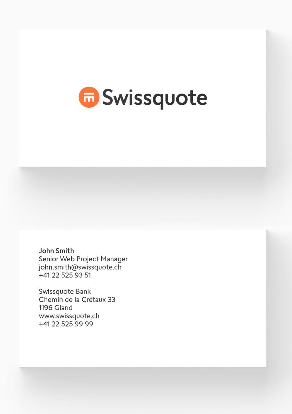 New Logo And Identity For Swissquote By Maskin Identity Logo Stationery Branding Branding Materials