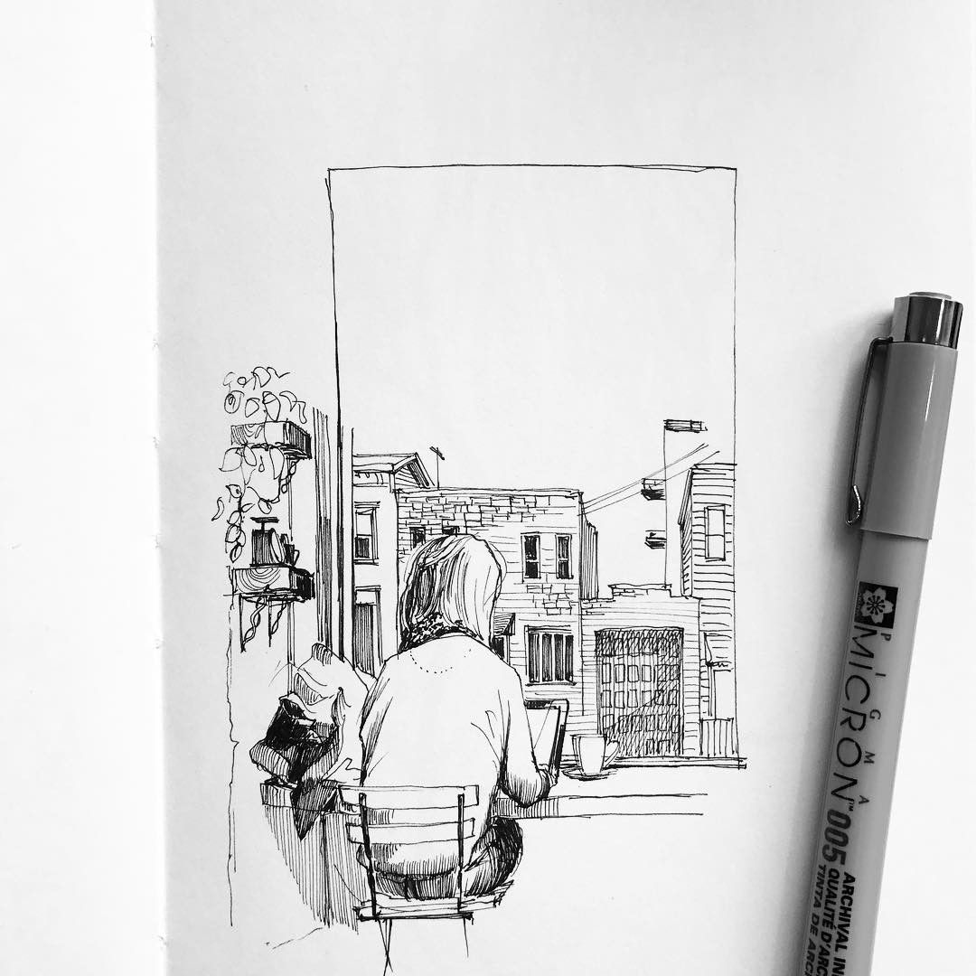 No.895 | window seat | #1011drawings
