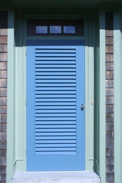 Louvered Exterior Door Exterior Doors Porch Doors Doors