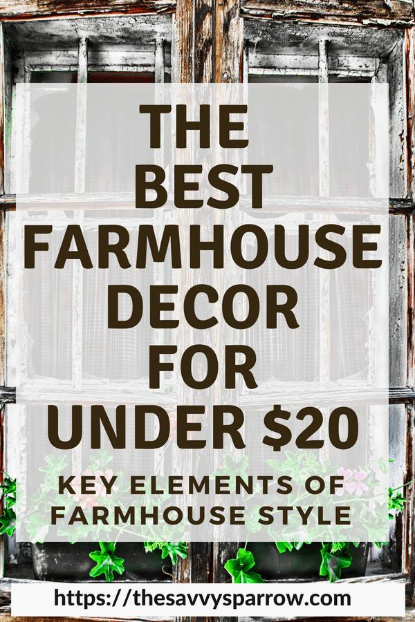 Farmhouse Decor for Cheap! The Key Farmhouse Elements for Under $20! -   24 farmhouse style on a budget ideas