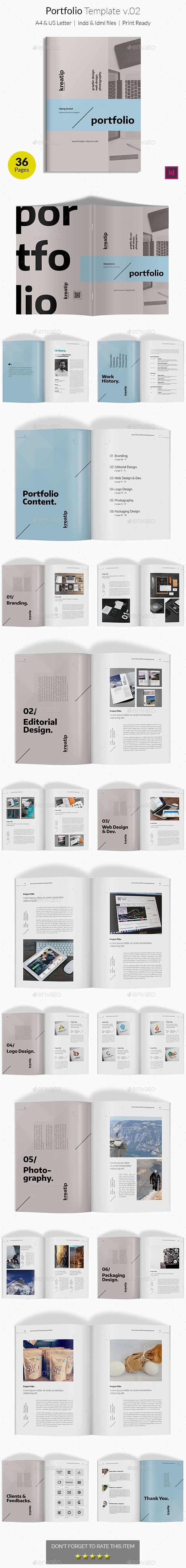Portfolio Template V  Indesign Templates Brochures And Editorial