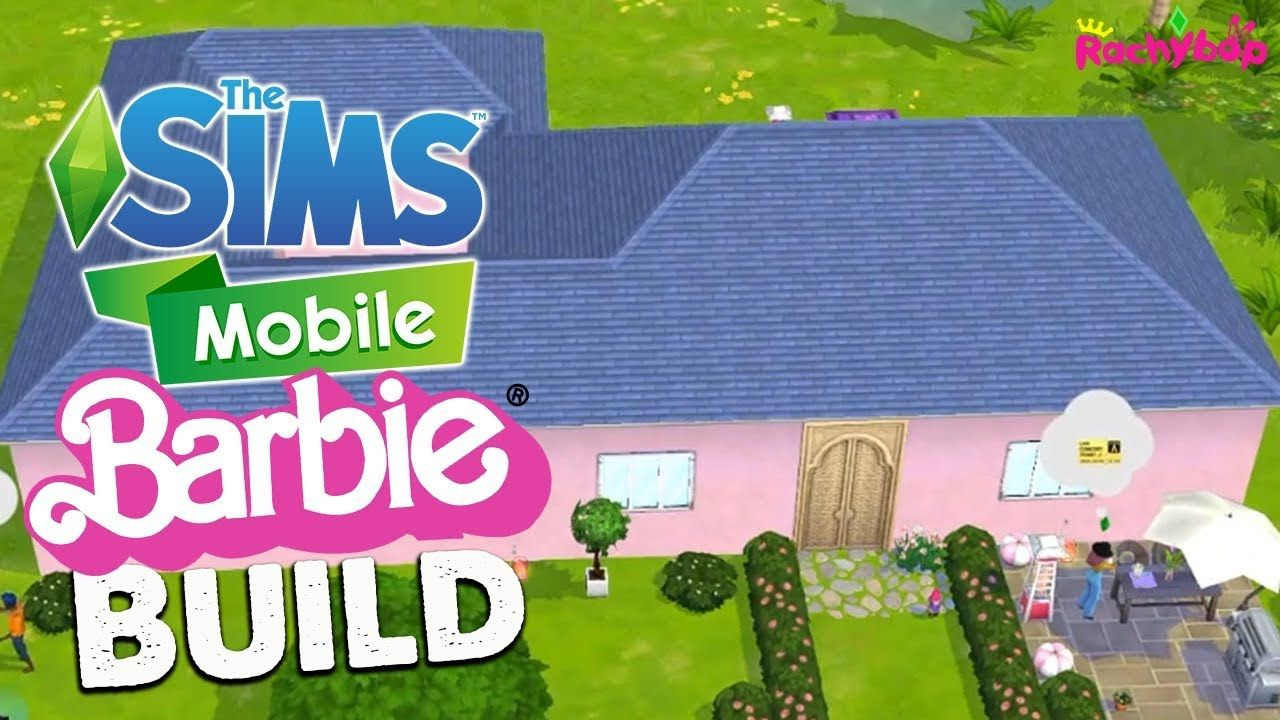 The Sims Mobile Pink Barbie Bungalow Speed Build! Barbie