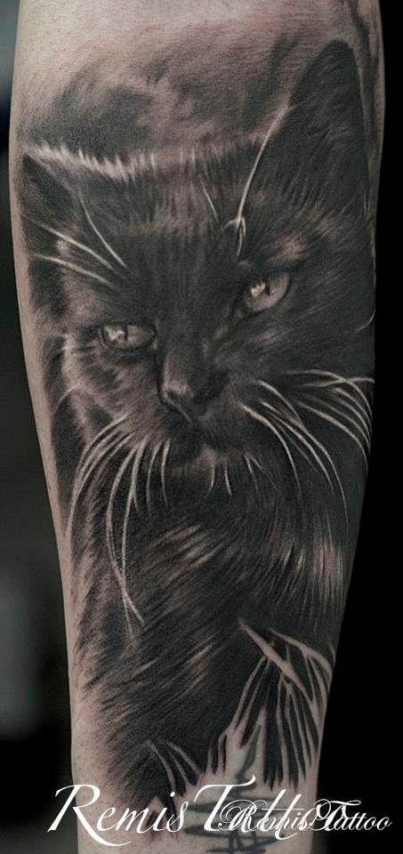 Tattoo Black Cat Tattoo Gallery Black And Grey Black White Cat Tattoo Black Cat Tattoos Cute Cat Tattoo Cat Tattoo Designs