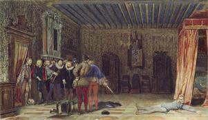 L'assassinat du Duc de Guise Delaroche Paul (1797-1856) ,  peintre, sculpteur COTE CLICHÉ10-510782N° D'INVENTAIREP738FONDSDessinsDESCRIPTION:Titre anglais : The Assassination of the duc de GuiseDATE1832PÉRIODE 19e siècle Europe (période) - période contemporaine de 1789 à 1914 TECHNIQUE/MATIÈRE aquarelle gouachée DIMENSIONSHauteur : 0.143 mLargeur : 0.248 mLOCALISATIONRoyaume-Uni, Londres, Wallace Collection  CRÉDITDiffusion uniquement sur le territoire français. Nous contacter pour les…