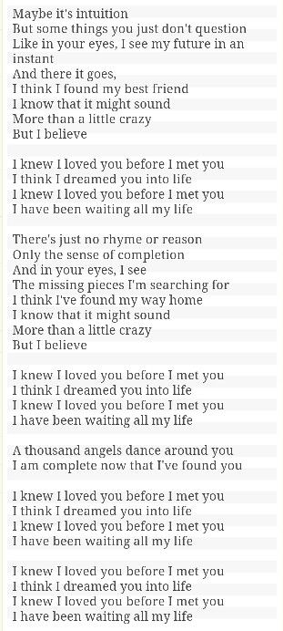 I Knew I Loved You Before I Met You Savage Garden Lyrics Pinterest Savage Garden Savage