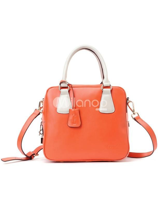 Popular Red Cow Leather Unspecified Zip Closure Womens Tote Bag ...