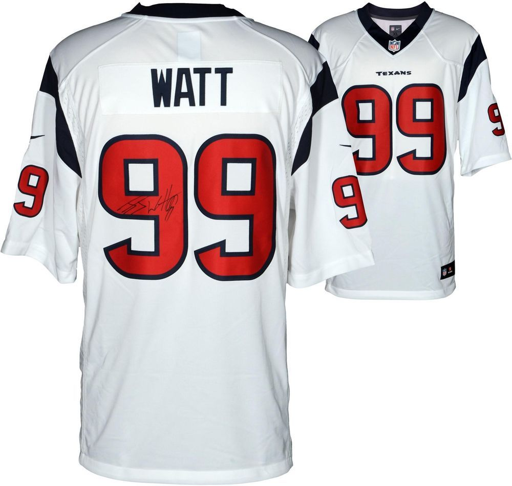 JJ Watt NFL Houston Texans Autographed Nike Limited White Jersey  Football cc81736c6