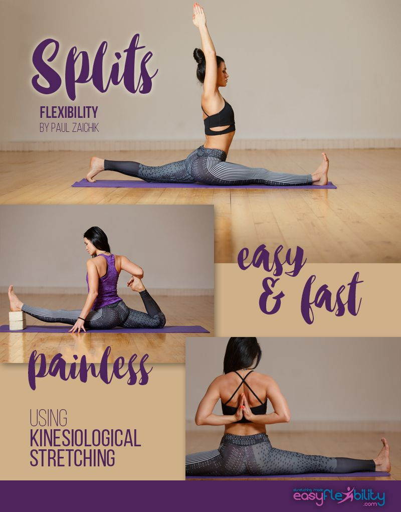 Learn how to do Splits. It's easy and fast without any pain, using kinesiological stretching! #Split #splits #Flexibility #flexing #easyflexibility #easy #fast #painles #yoga #stretching #stretch #frontsplit #sidesplit
