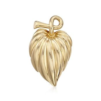 C. 1990 Vintage Cartier 14kt Yellow Gold Leaf Pin