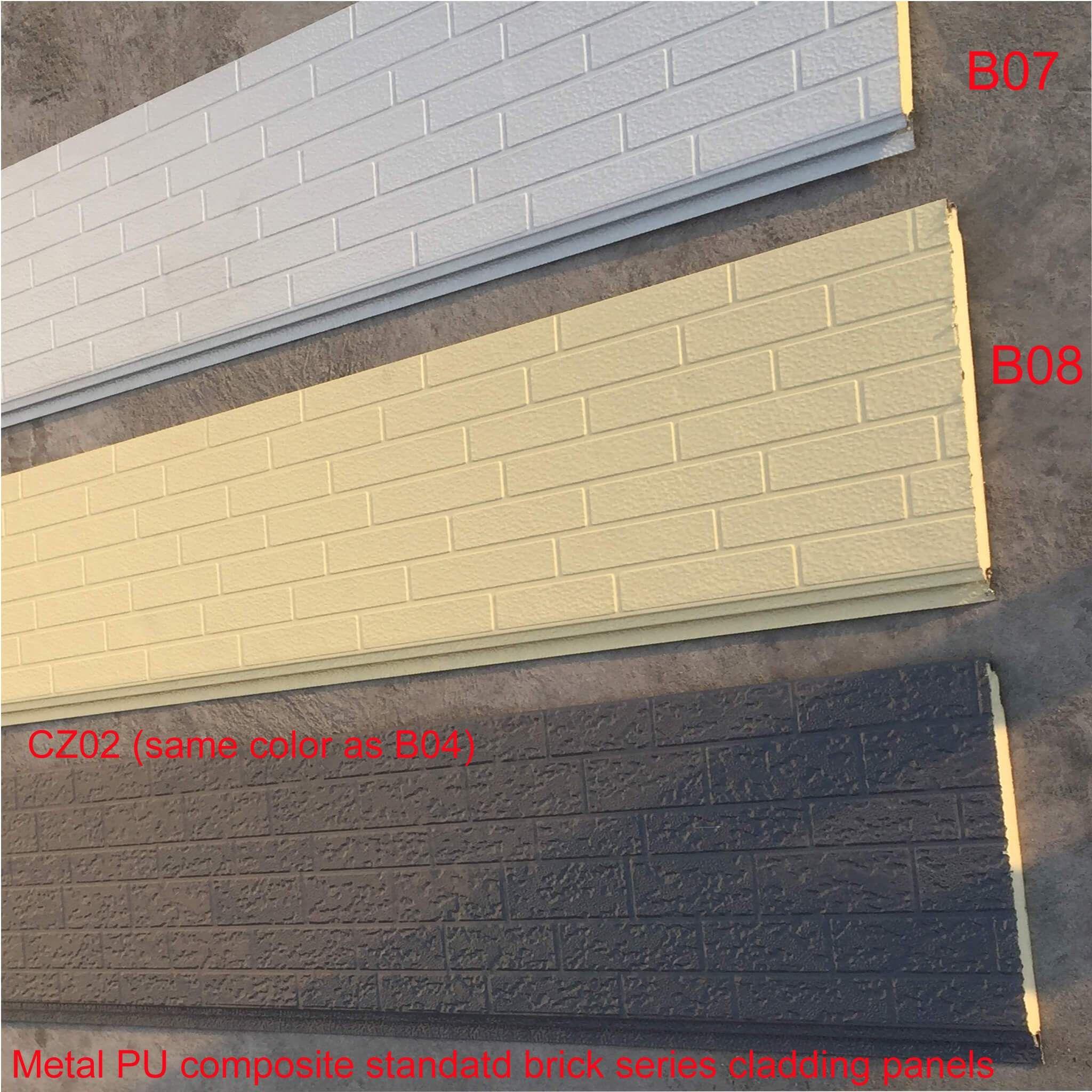 Polyurethane Faux Brick Siding Panels Standard Brick Grains Brick Siding Stone Veneer Exterior Facade House