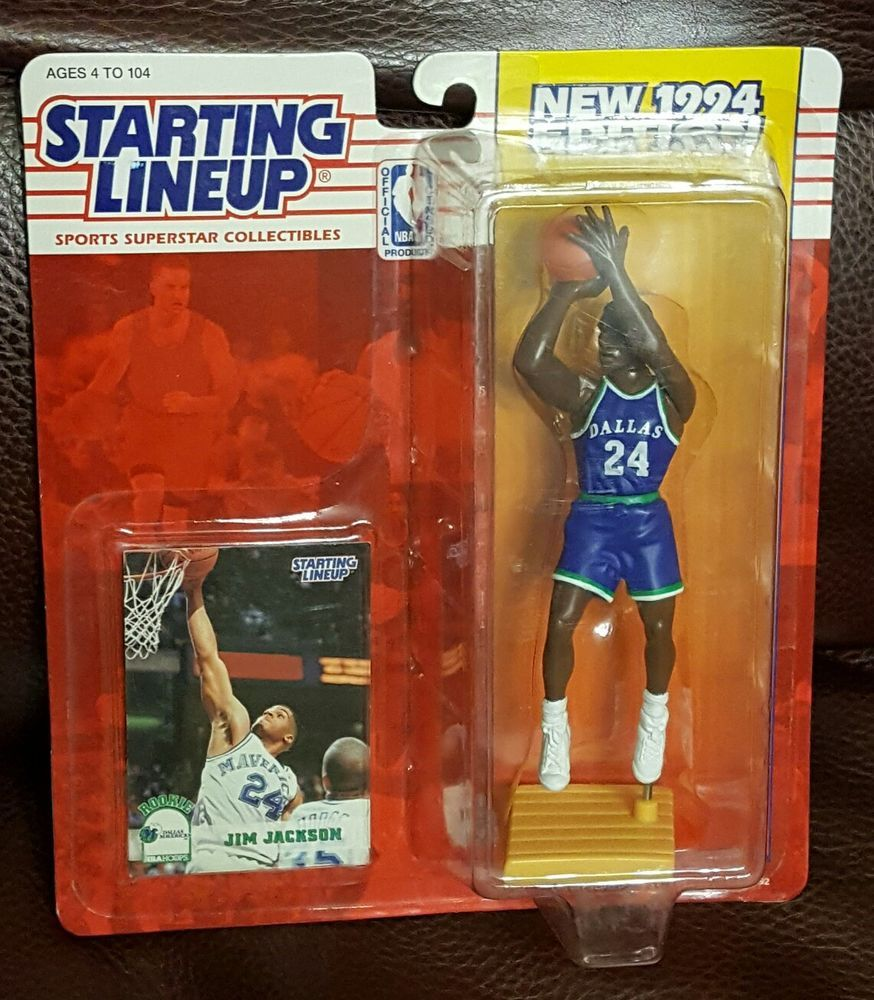 JIM JACKSON Starting Lineup 1994 Action Figure Card UNOPENED NBA Mavericks #Kenner