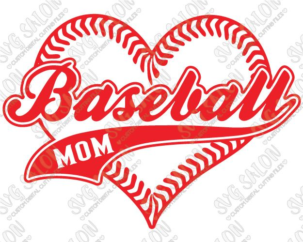 Baseball Mom Heart Shaped Laces Custom DIY Iron On Vinyl Shirt - Custom vinyl baseball decals