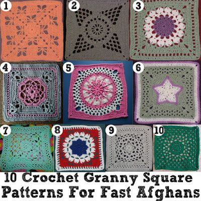 10 Perfect Crochet Squares for Fast Afghans - All Free Crochet ...