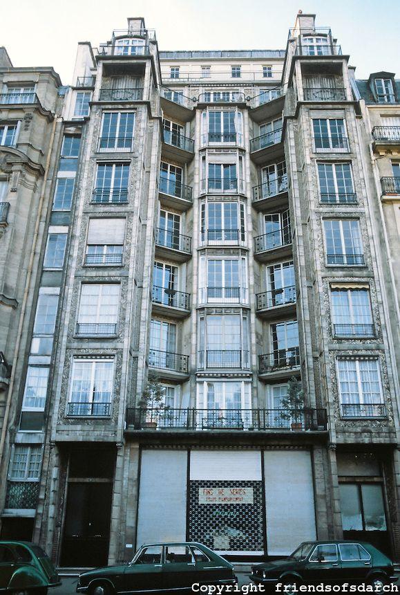 Auguste perret franklin apartments paris 1902 26 rue for Comedores en franklin
