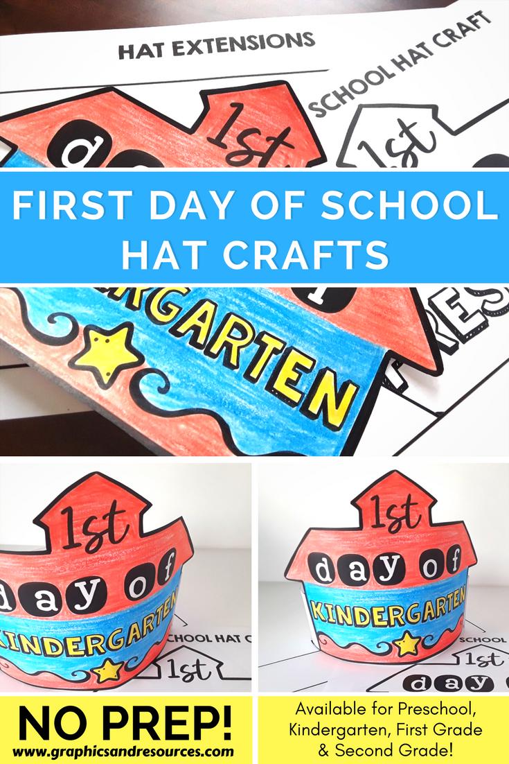 First Day Of School Activity Kindergarten Back To School Craft Hat