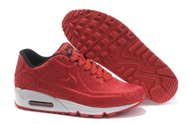 magasin en ligne 25356 be2e8 Nike Air Max 90 Chaussures Hommes Rouge de style chinois ...