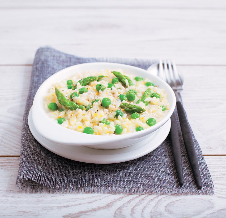 #Recette de risotto aux petits pois et aux asperges vertes
